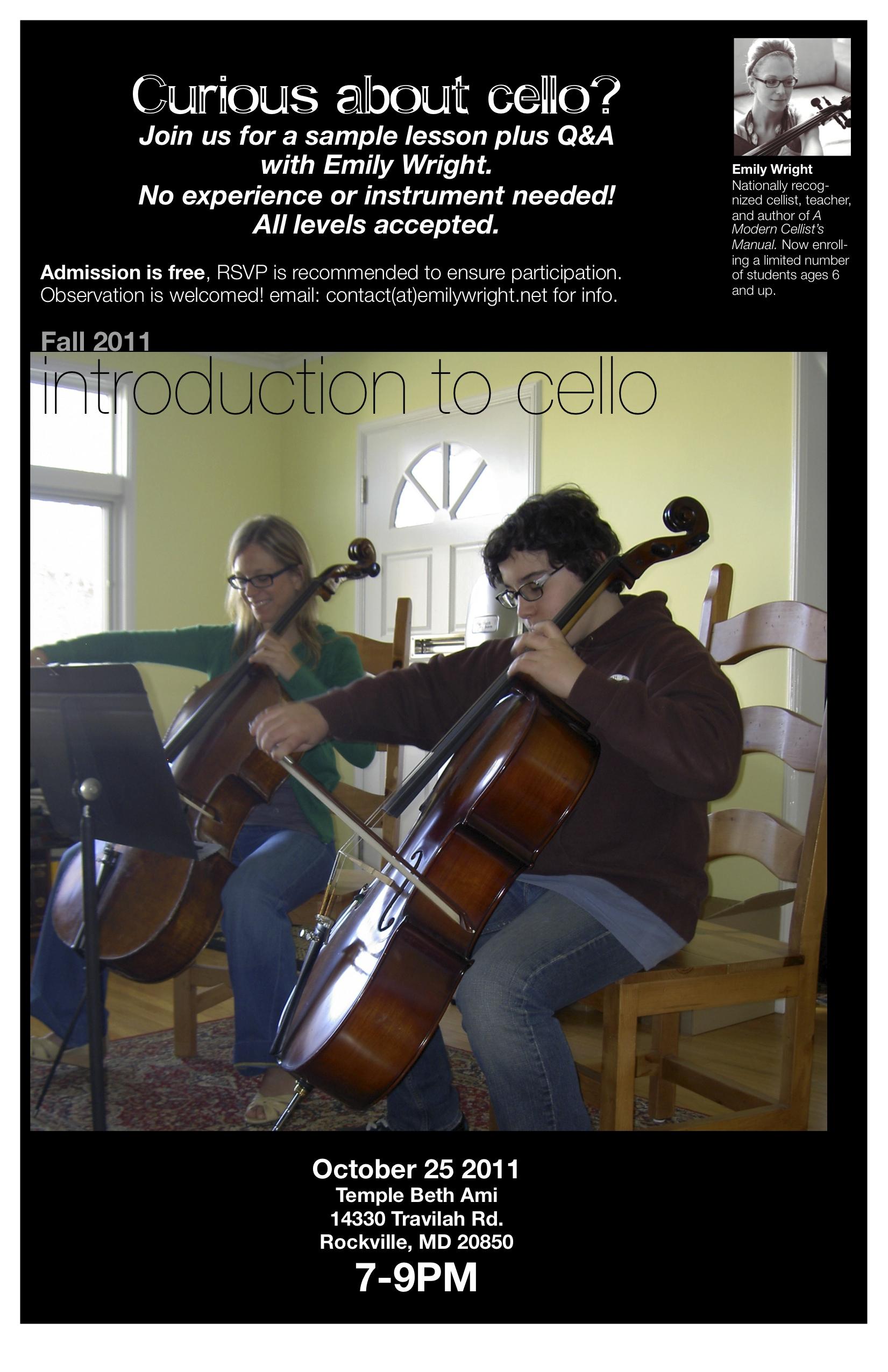 Beltway Cello Event!